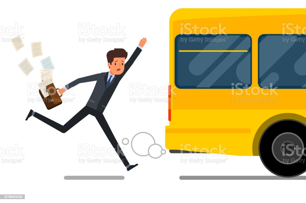 Concept of lateness. vector art illustration