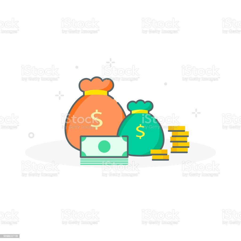 concept of money income growth finance productivity budget planning