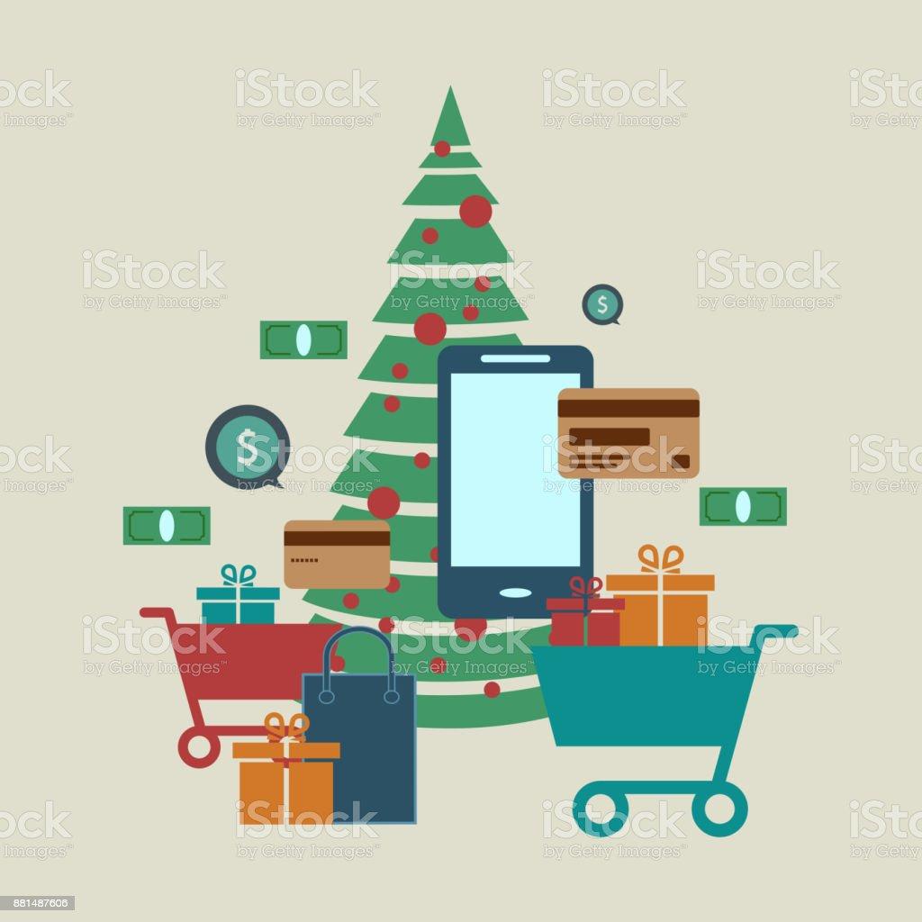 Concept Of Online Shop Ecommerce Store Internet Shop Christmas Tree