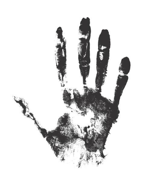 Konzept der menschlichen Hand malen. – Vektorgrafik