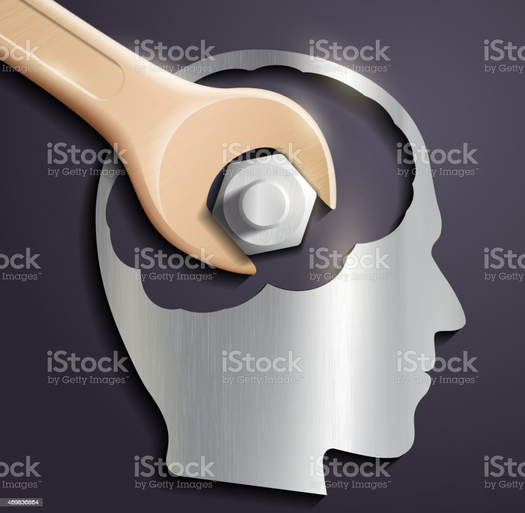 Concept of recharging need of human brain vector art illustration