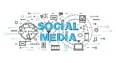 Concept of social media, social networking and web communtity
