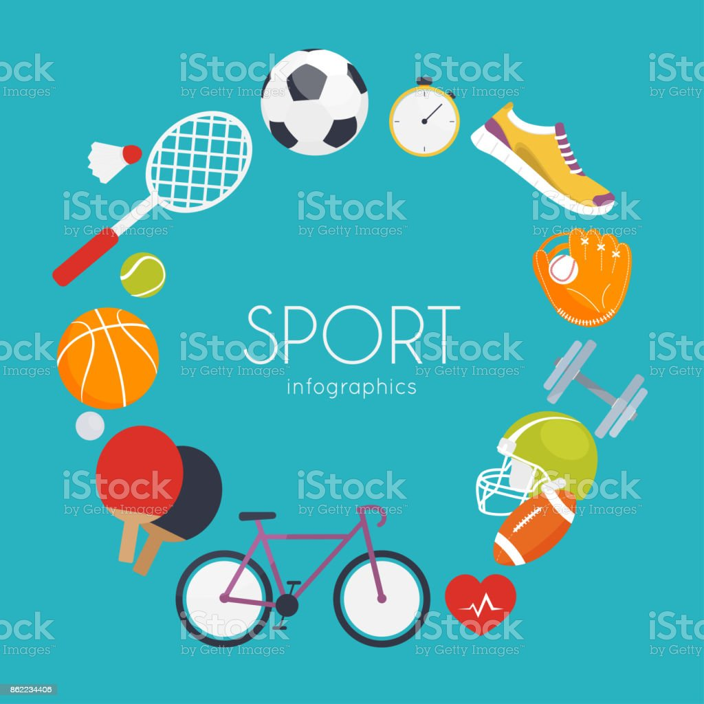 Concept Of Sport Infographics Icons For Web Fitness Sport