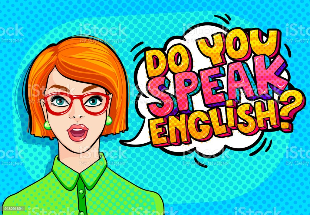 Concept of studying English. vector art illustration