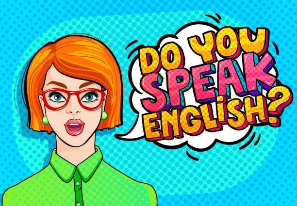 konzept von englisch zu lernen. - englischlernende stock-grafiken, -clipart, -cartoons und -symbole