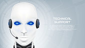 Concept of technical support with robot