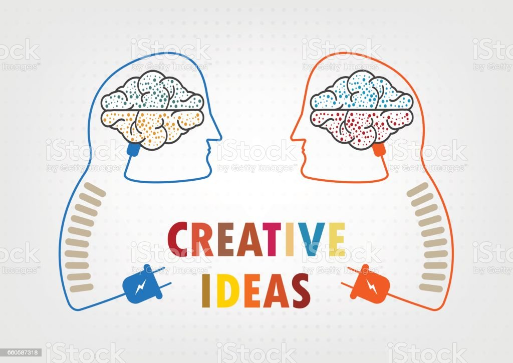 concept of the idea from human brain, vector illustration royalty-free concept of the idea from human brain vector illustration stock vector art & more images of brain
