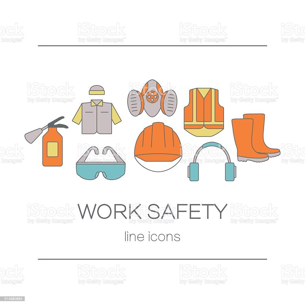 Konzept der Titel Website Seite oder Banner für Sicherheit arbeiten – Vektorgrafik