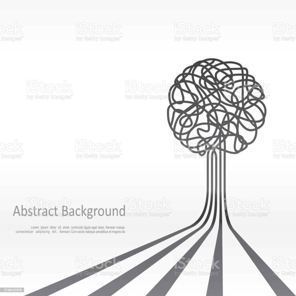 Concept of tree background design. Vector vector art illustration