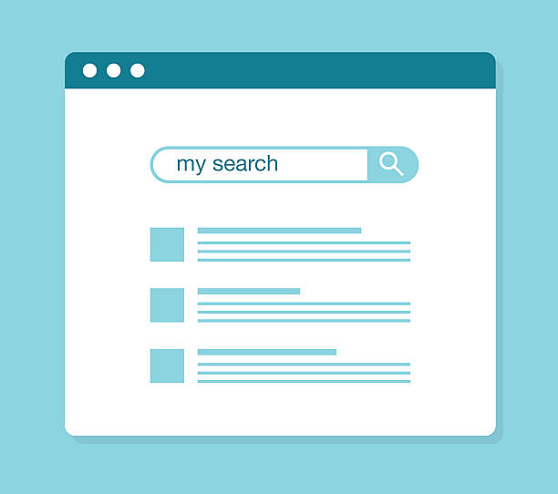 concept of using web search - seo stock illustrations, clip art, cartoons, & icons