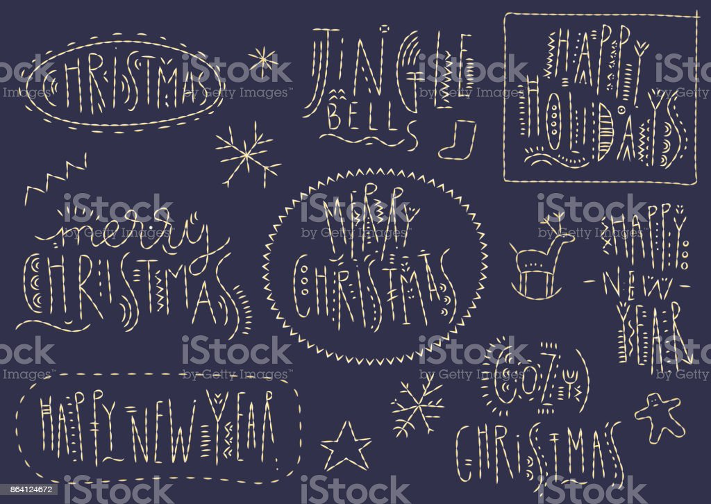 Concept of Vector Christmas lettering. royalty-free concept of vector christmas lettering stock vector art & more images of backgrounds