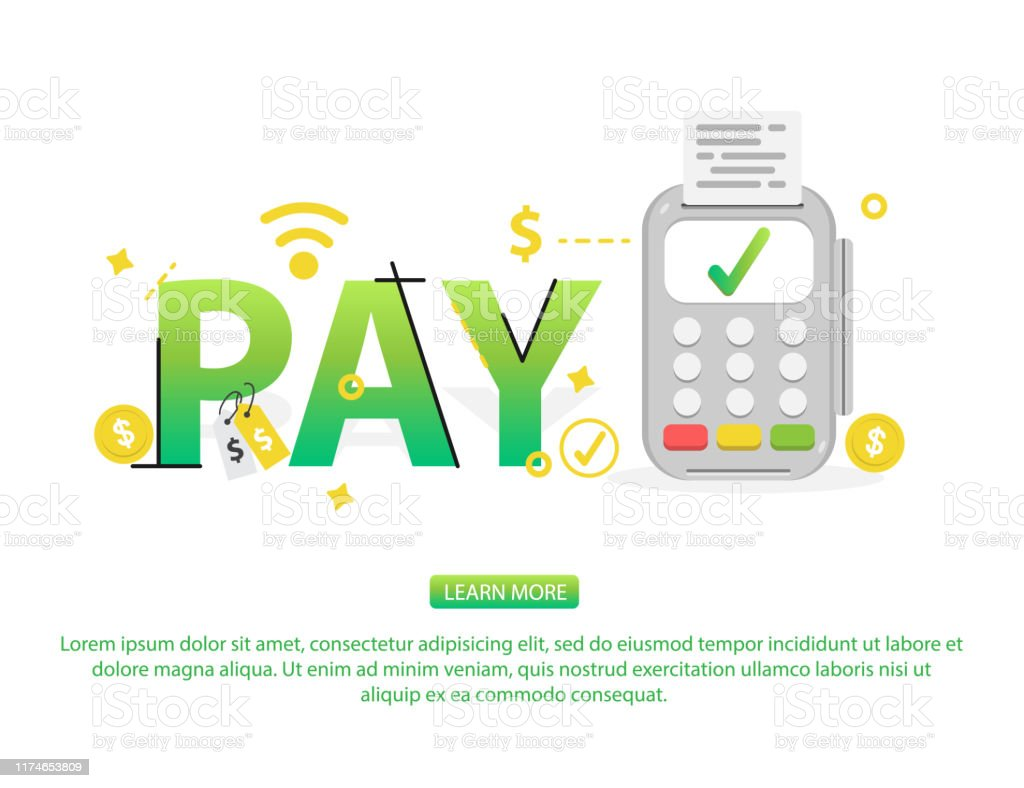 Concept Of Word Design Contactless Payment Online Payment
