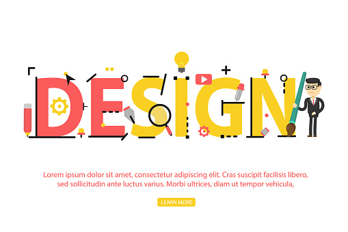 Concept of word design. illustration conpept for website, banner and mobile