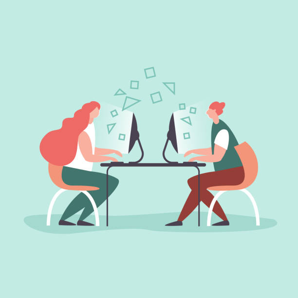 Konzept Büroarbeit, Co-working, Kreativteam flachen Stil – Vektorgrafik