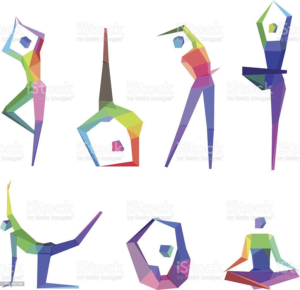 Concept Polygonal People vector art illustration