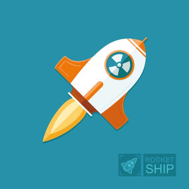 概念火箭在藍天背景。核彈是從侵略者的狀態發射出來的。對地球和平的威脅。圖形向量平面圖 - hiroshima 幅插畫檔、美工圖案、卡通及圖標