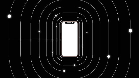 Concept smartphone technology background