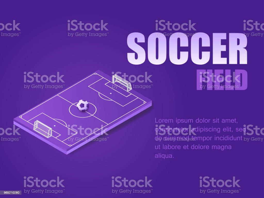 Concept soccer field. Vector illustration isometric football field with soocer ball royalty-free concept soccer field vector illustration isometric football field with soocer ball stock vector art & more images of activity