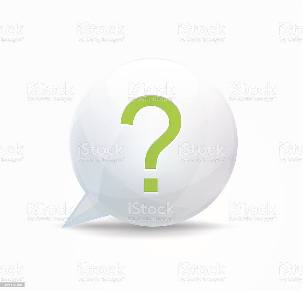 Concept speech bubble. Question mark royalty-free stock vector art