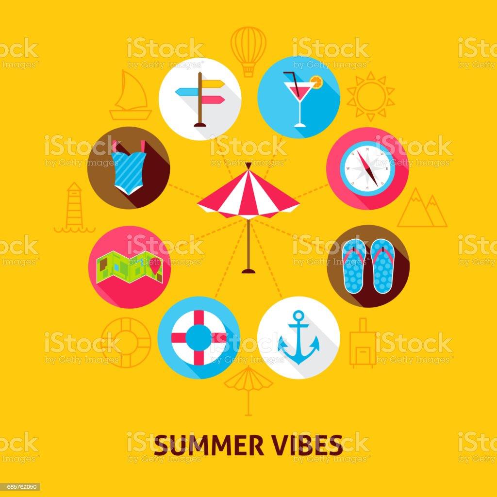 Konceptet sommaren Vibes royaltyfri konceptet sommaren vibes-vektorgrafik och fler bilder på affisch