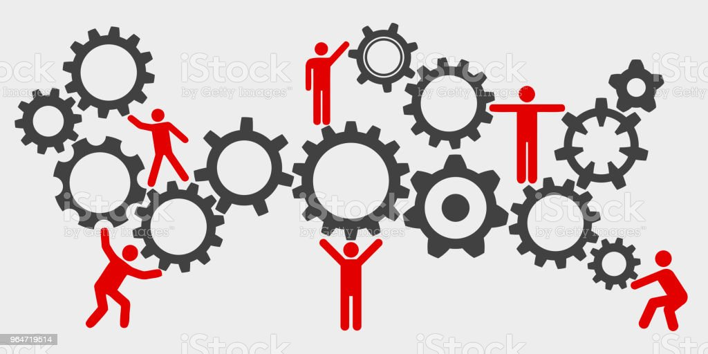 Concept teamwork, staff, partnership mechanism - stock vector royalty-free concept teamwork staff partnership mechanism stock vector stock vector art & more images of adult