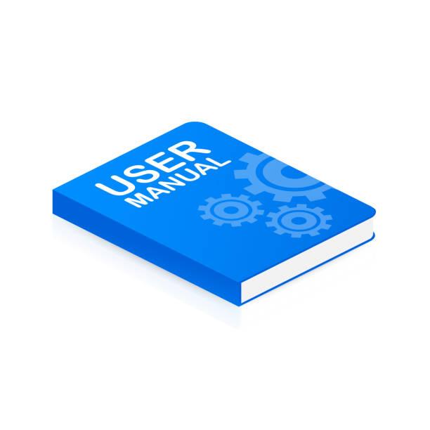 Concept User manual book for web page, banner, social media. Vector illustration Concept User manual book for web page, banner, social media. Vector stock illustration handbook stock illustrations