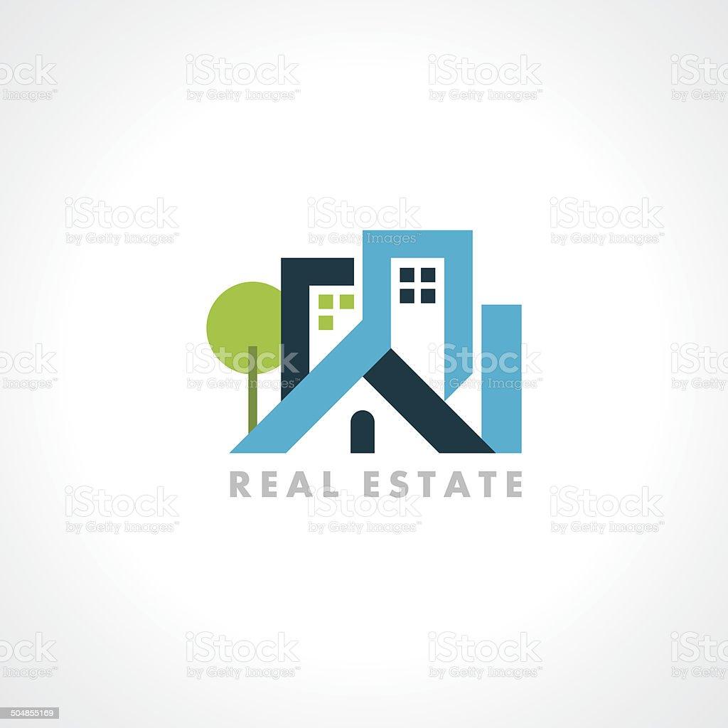 concept vector icon design template for Real estate vector art illustration