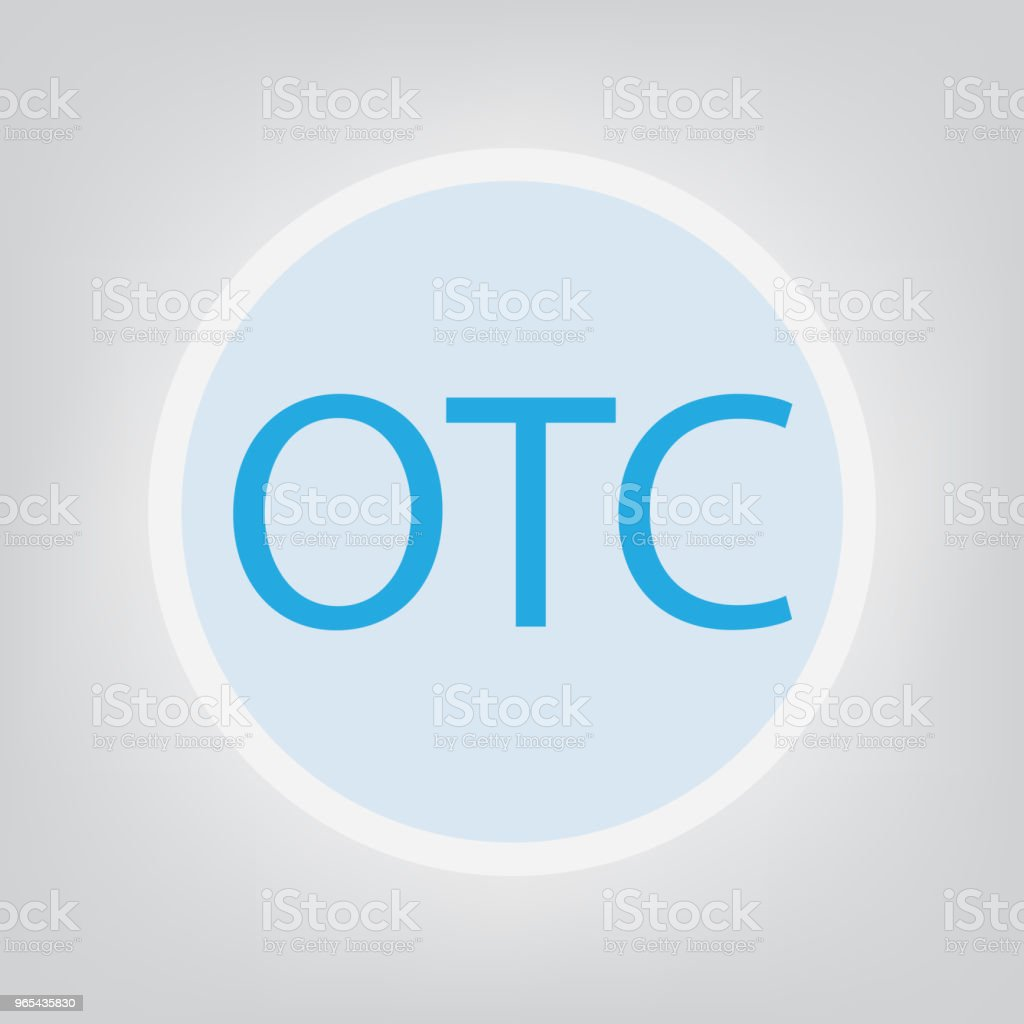 OTC (Over The Counter) concept royalty-free otc concept stock vector art & more images of blue