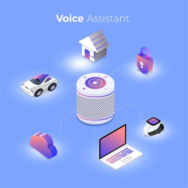 concept voice technology - assistent stock-grafiken, -clipart, -cartoons und -symbole