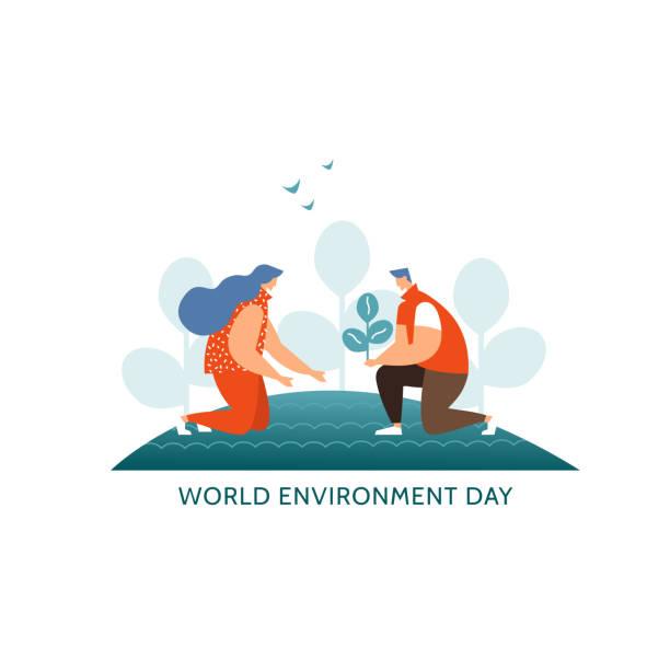 Konzept-Welt-Umwelttag – Vektorgrafik