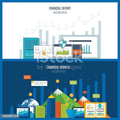 istock Concepts for business analysis and planning, teamwork, financial report 540397204