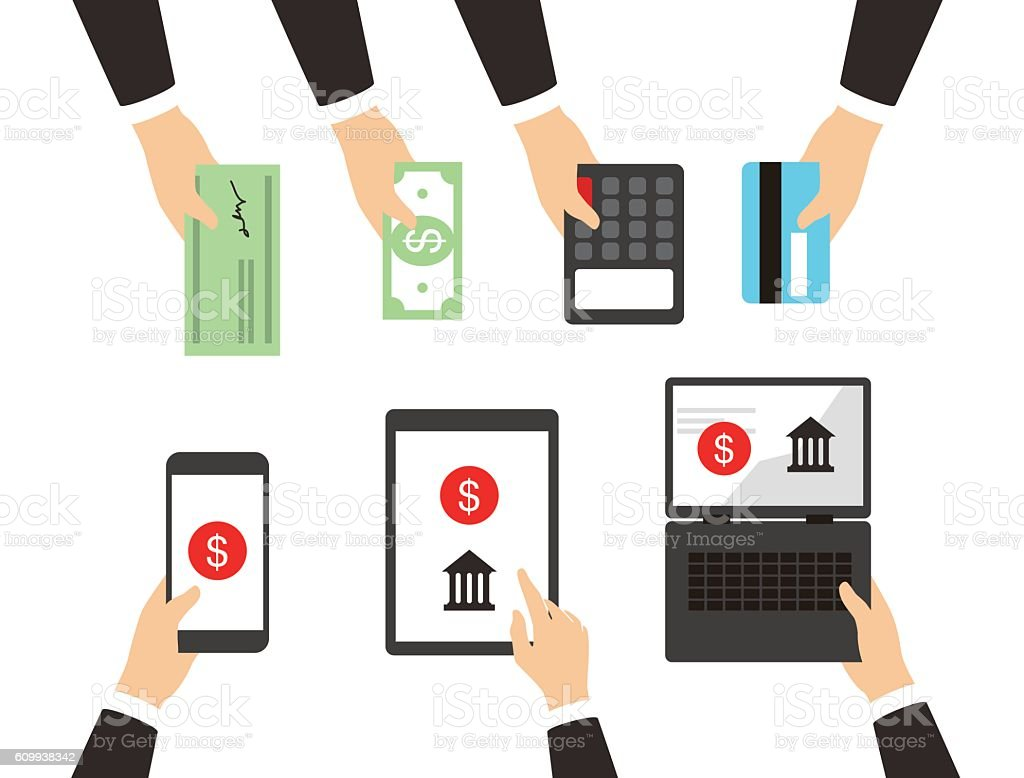 concepts for Payment Methods. Concepts web banner vector art illustration