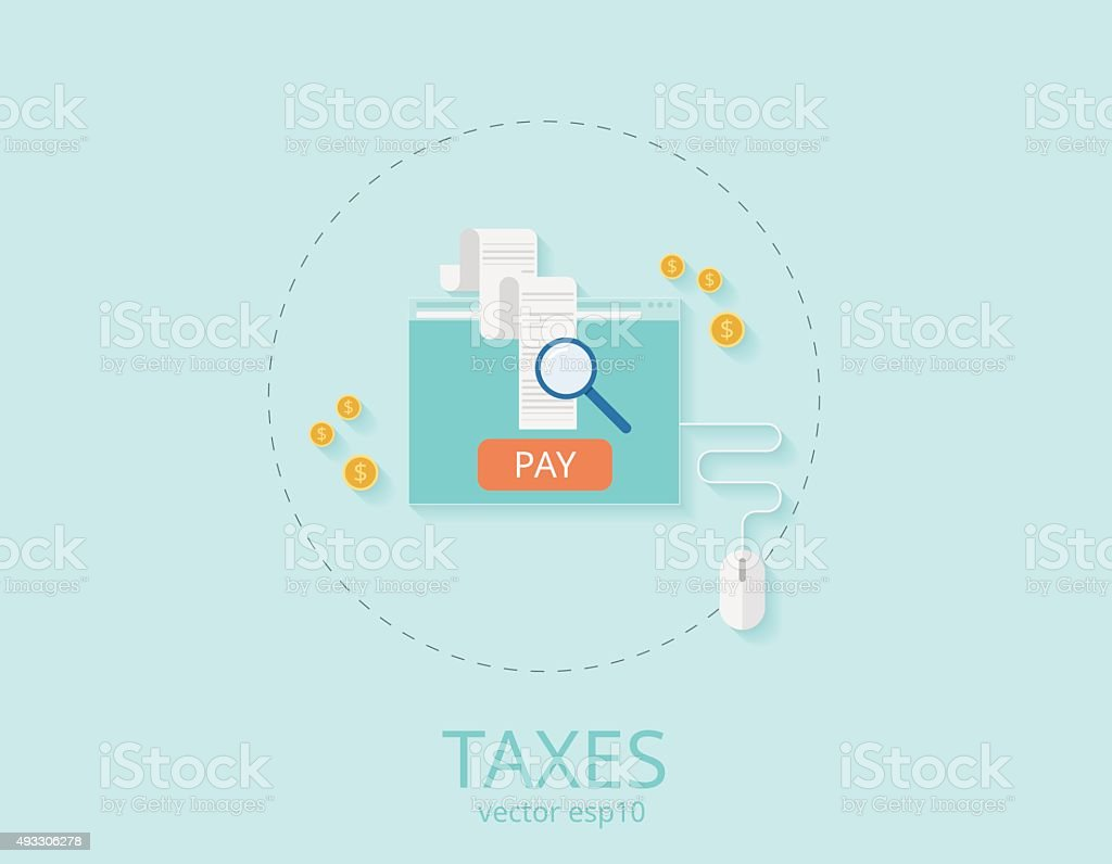 Concepts for taxes, finance, bookkeeping, accounting, business vector art illustration