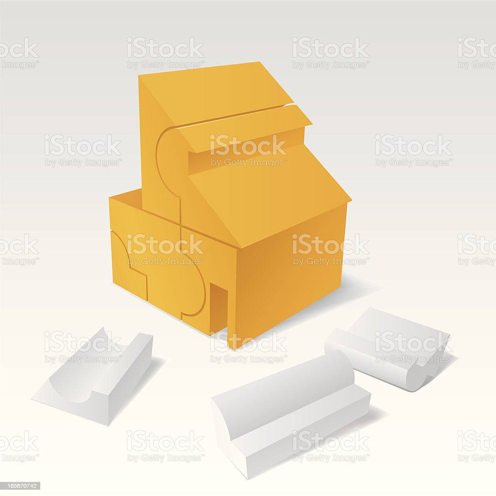 Concepts - House Puzzle royalty-free stock vector art