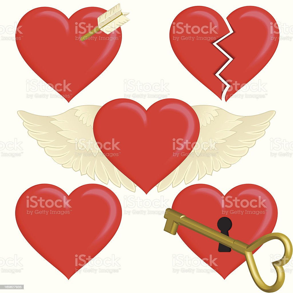 Concepts of the Heart vector art illustration