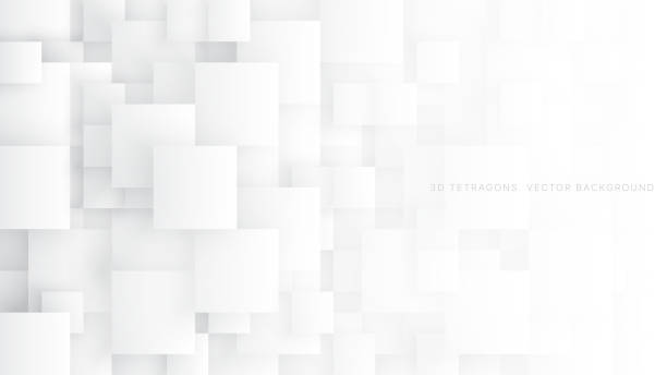 ilustraciones, imágenes clip art, dibujos animados e iconos de stock de conceptual 3d vector tetragons fondo abstracto - abstract background