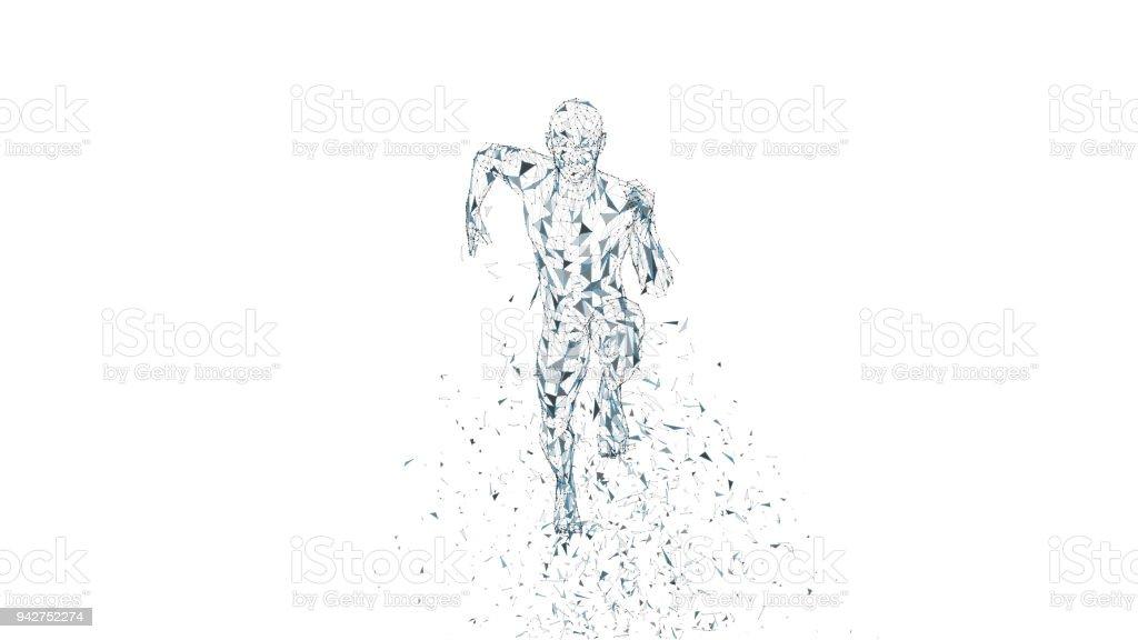Ilustración de Hombre Corriente Abstracta Conceptual Corredor Con ...