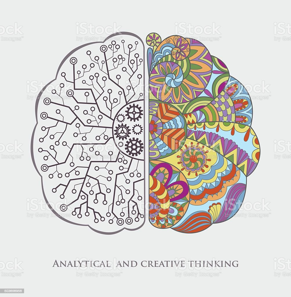 概念的な背景に分析とクリエイティブなアイデアを意味します の