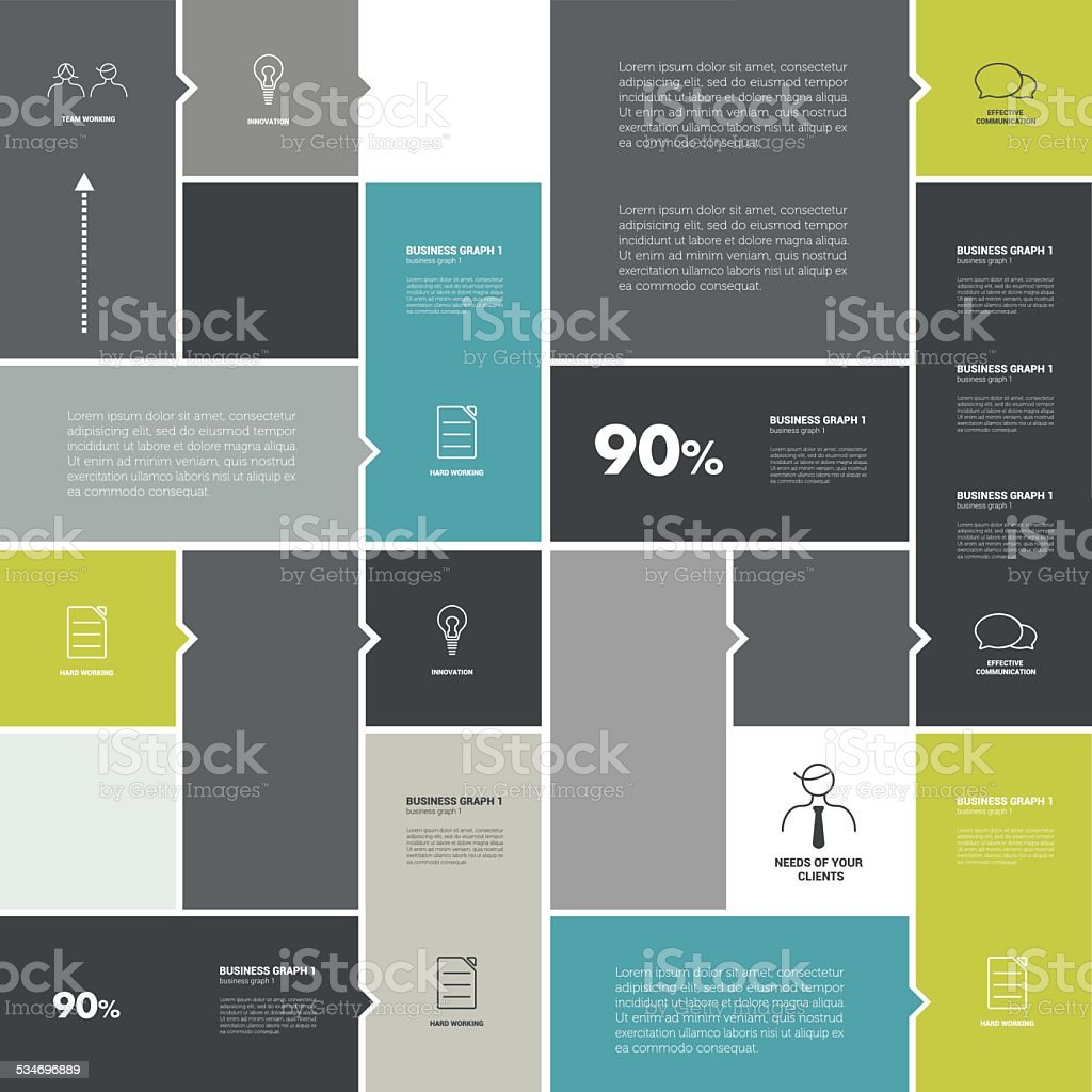 Conceptual flat template. vector art illustration