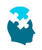 Conceptual icon of head for psychology and mind