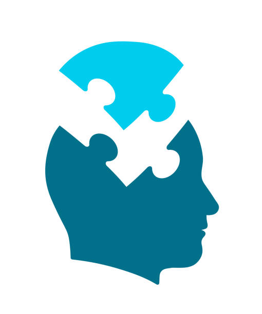 ilustrações de stock, clip art, desenhos animados e ícones de conceptual icon of head for psychology and mind - inteiro