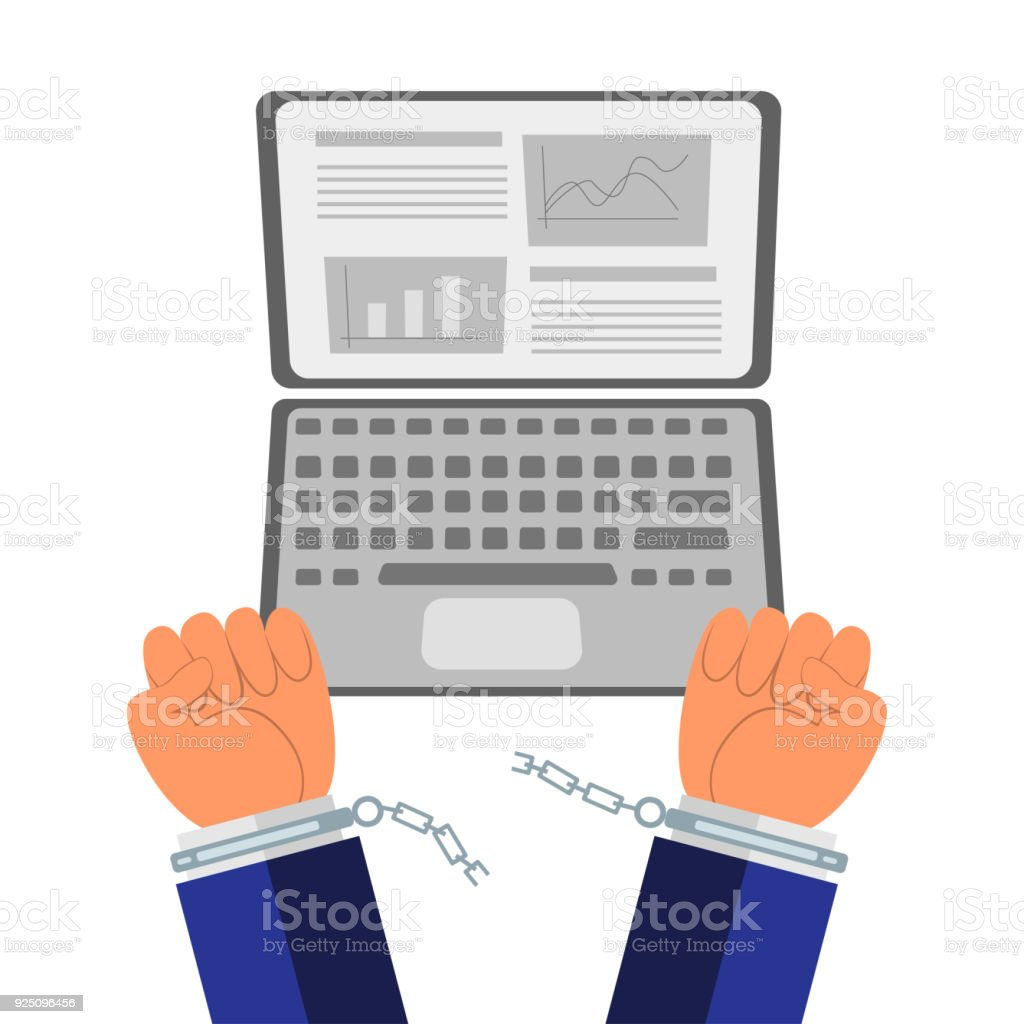 Conceptual idea of job quit vector art illustration