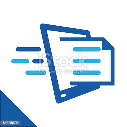 istock conceptual illustration icon to quickly get document, relating to the business of managing digital document services. 840286754