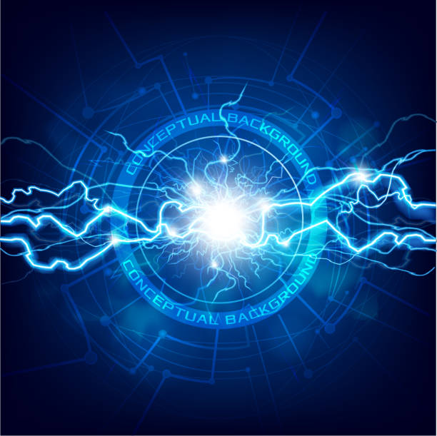 Conceptual Lightning background vector art illustration