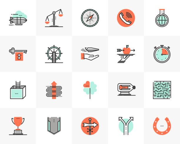Conceptual Metaphors Futuro Next Icons Pack vector art illustration