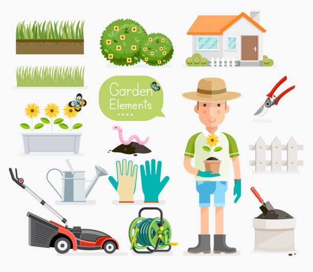 Royalty free gardening gloves clip art vector images for Gardening tools vector