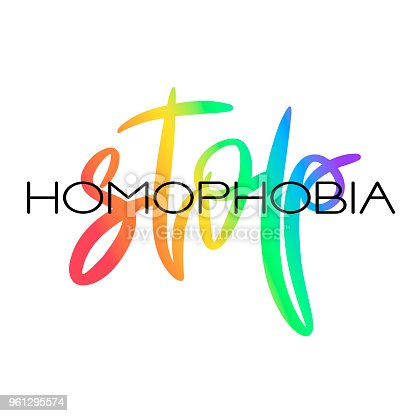 conceptual poster with rainbow lettering stock vector art more
