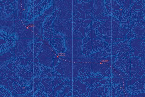 Conceptual Vector Sea Depth Topographic Map clipart