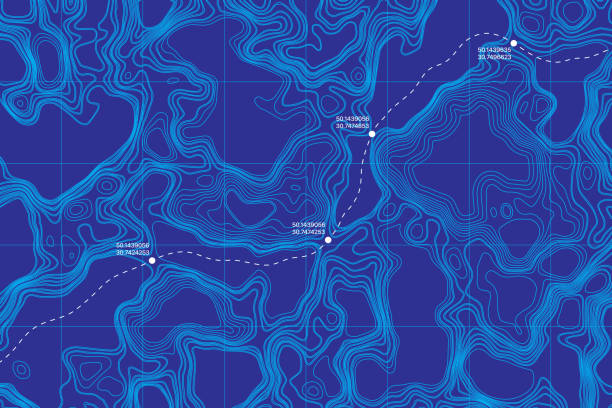 bildbanksillustrationer, clip art samt tecknat material och ikoner med konceptuell vektor topografisk karta - map oceans