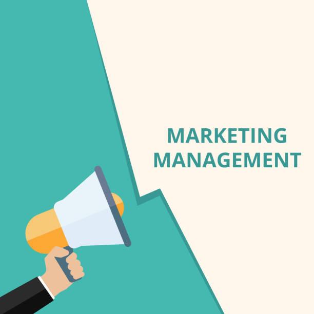 Conceptual writing showing Marketing Management. vector art illustration